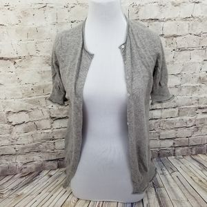 Yigal Azrouel Grey Cashmere Button Front Cardigan